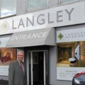 Newly refurbished Langley Interiors showroom.
