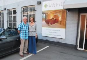 Langleys customers at the Langley interiors furntiure showroom.