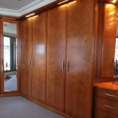 Real wood cherry bedroom - fitted wardrobes.