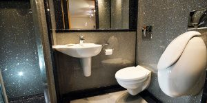 cloakroom design with villeroy and boch sink toilet and bidet