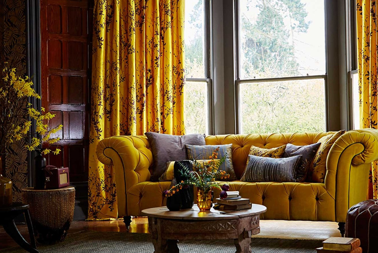 yellow harlequin styling ideas