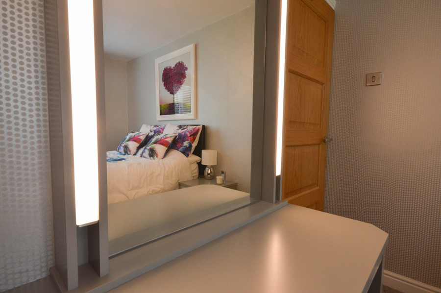 Modern Grey High Gloss Fitted Bedroom
