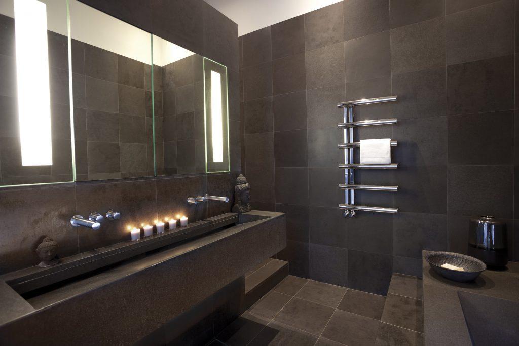 modern bisque towel holder radiator - STAINLESS STEEL MIRROR FINISH