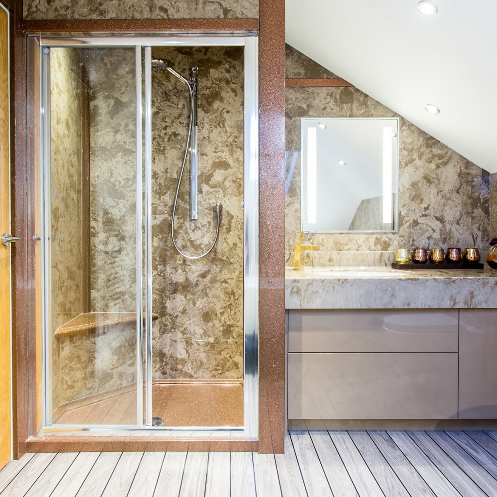 Sliding shower screens by aqata with superior soft close and toughened glass