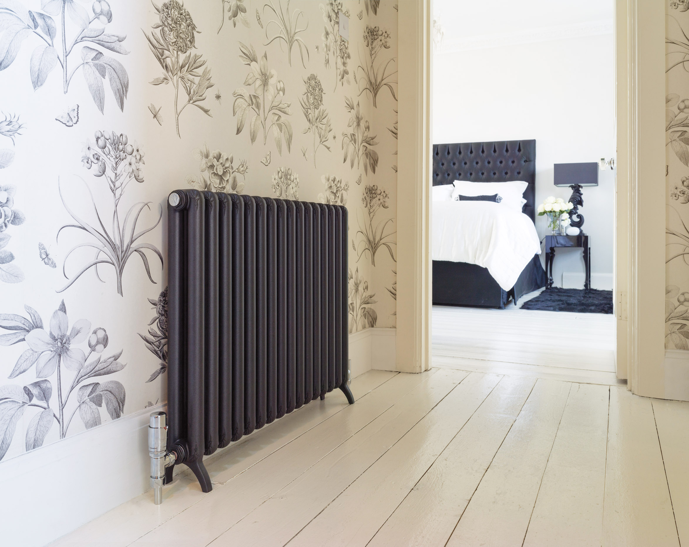 Bisque radiator TETRO - Volcanic (RAL 9010)