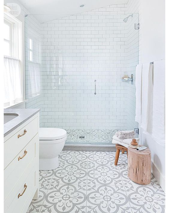 Moroccan style tiles in grey pattern