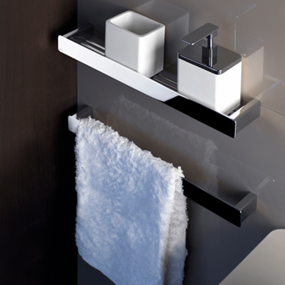 Gessi towel holder, soap dispenser and small cotton bud container