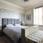 Bedroom design in sycamore wood with inlaid real wood veneers