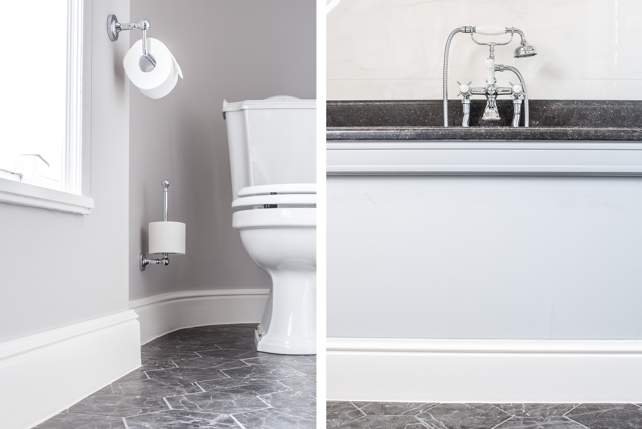 Decorative bathroom skirting