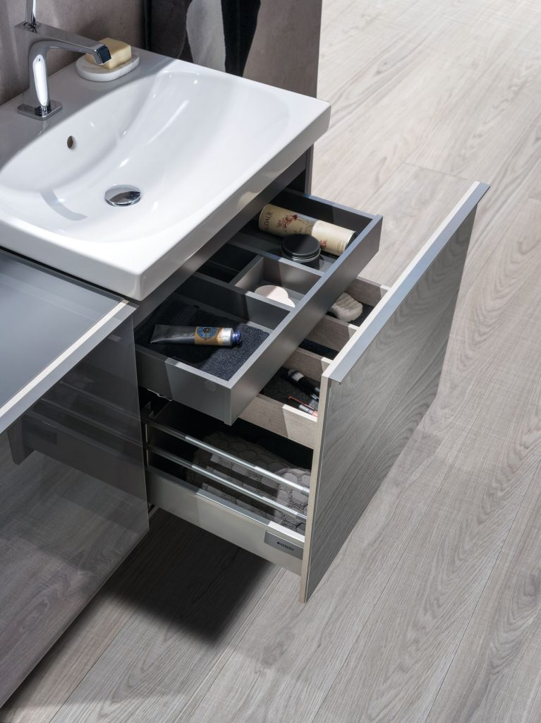 Geberit under sink storage, perfect for creams and beauty products