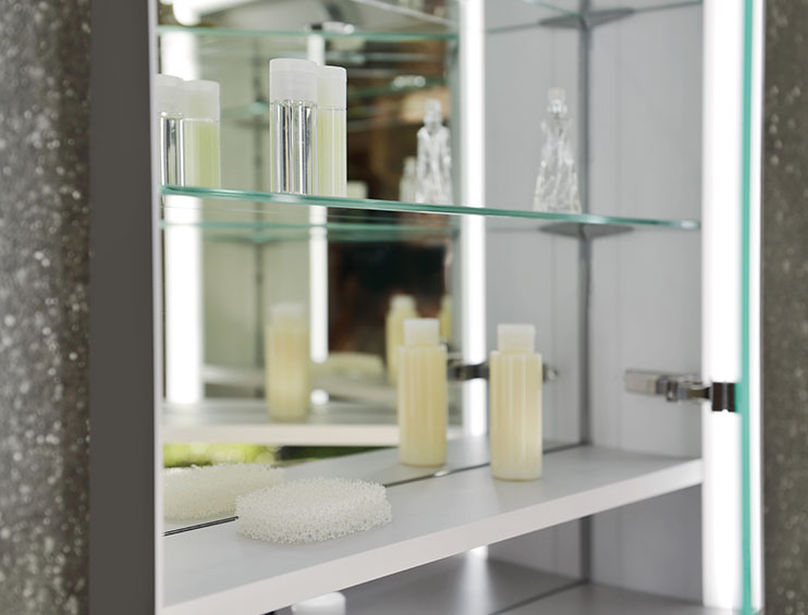 keuco wall hung mirror cabinet with storage