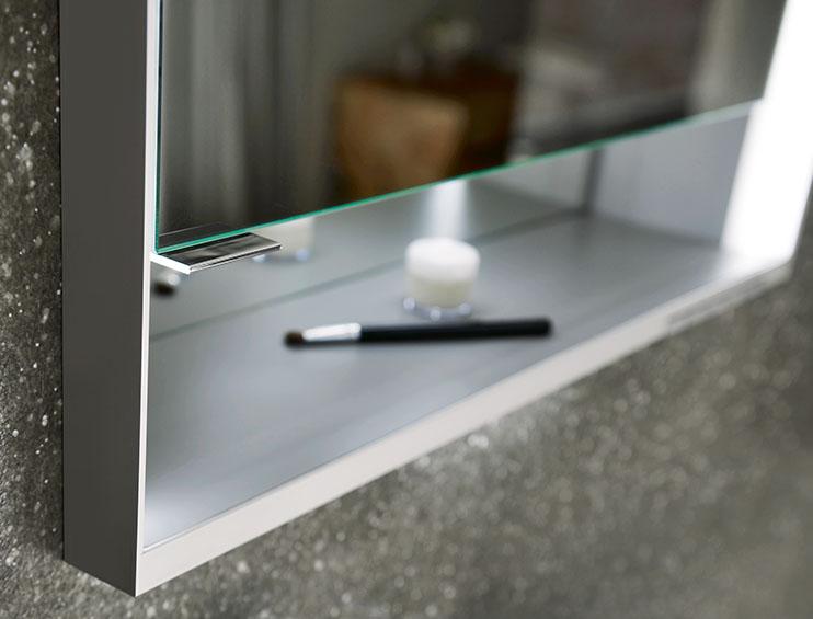 Keuco aluminium mirror cabinet finish