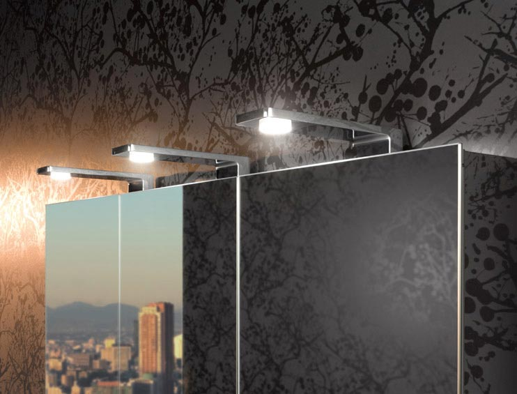 Keuco mirror bathroom cabinet with top lights