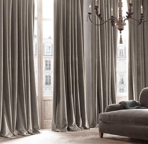 restorationhardware.com velvet curtains