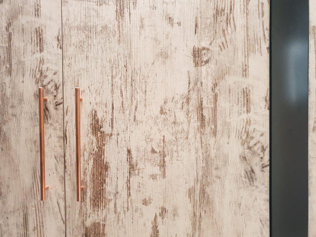 driftwood door with door handle