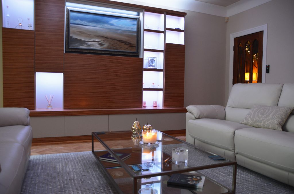 Media unit made with real zebrano wood veneers