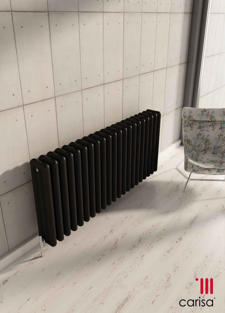 Tubo horizontal radiator in black