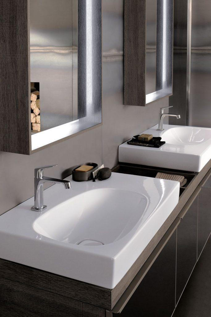 twin basin ideal for a modern bathroom