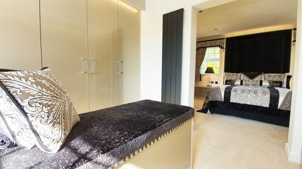 Luxury bedroom with walk through