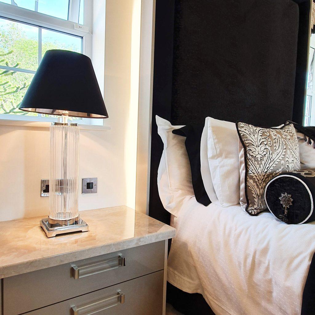 Bespoke head board creates a cosy atmosphere.